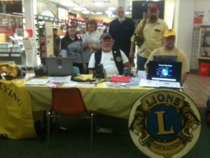 Mendenhall Flying Lion at the Rotary Safety Expo vision screening.